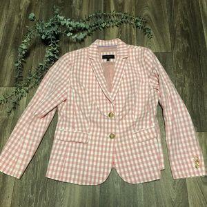 Talbots Pink Buffalo Checkered Blazer Petite